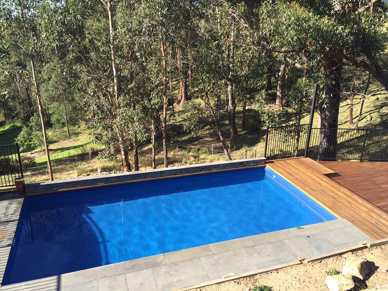 Brightwaters above ground pool paradise pools australia for Above ground pool decks brisbane