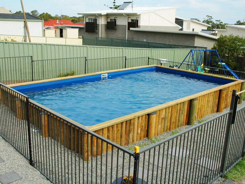 Brightwaters Pool Semi Inground - dark blue