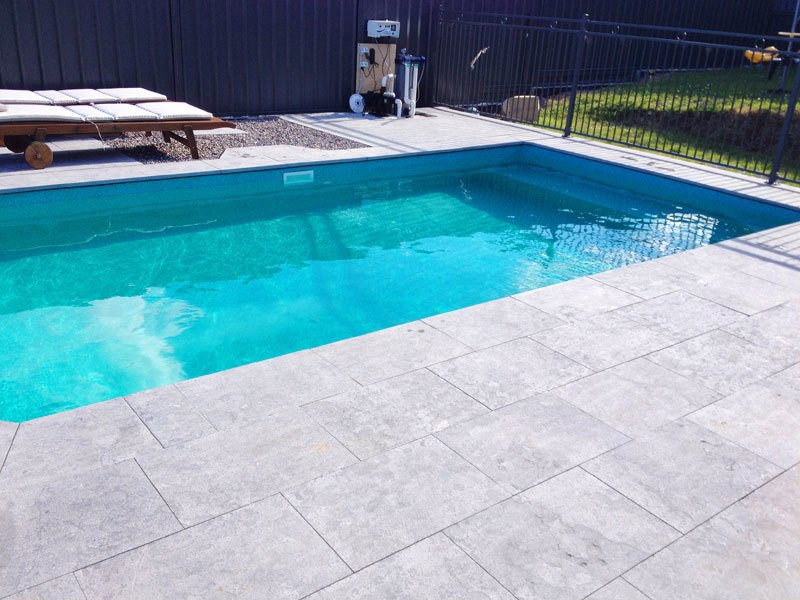 NSW - Brightwaters 6 x 3.3 Aqua Marble, fully inground with paved coping